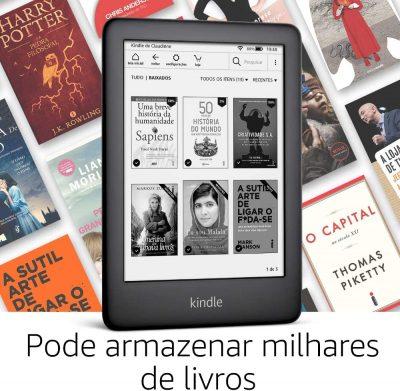Kindle 10a. geração com iluminação embutida - armazena milhares de livros - Amazon