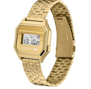Lacoste Relógio unissex em aço dourado