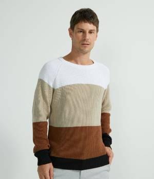 Suéter em tricô 100% algodão