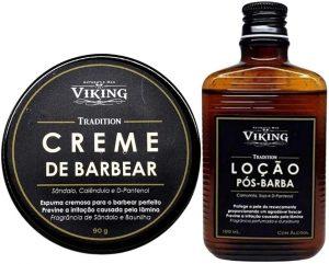 Viking - Kit com 01 creme de barbear e 01 loção pós-barba